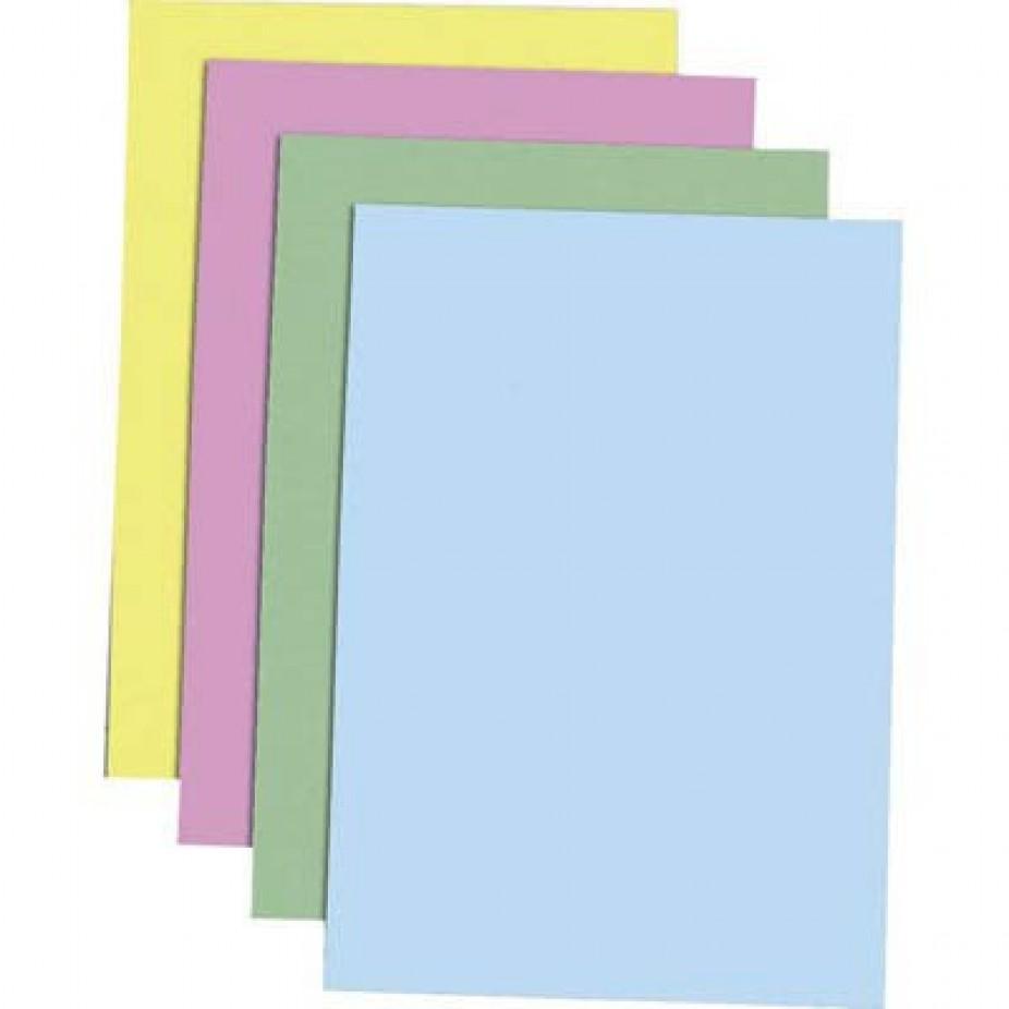 Papel cartolina 50 x 66 120 grs cores unid.