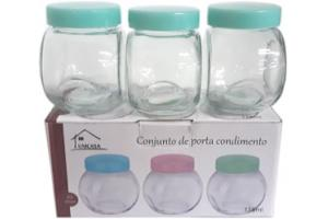 Conjunto porta condimento 3 peças 115 ml Unicasa unid.