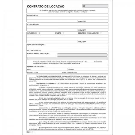 Bloco contrato locação 15017-7 Tilibra CJ 2 unid.