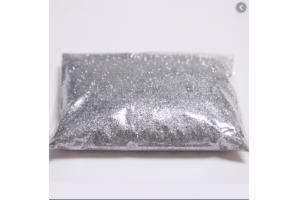 Glitter PVC puro 313 Prata GR Química pacote 500g