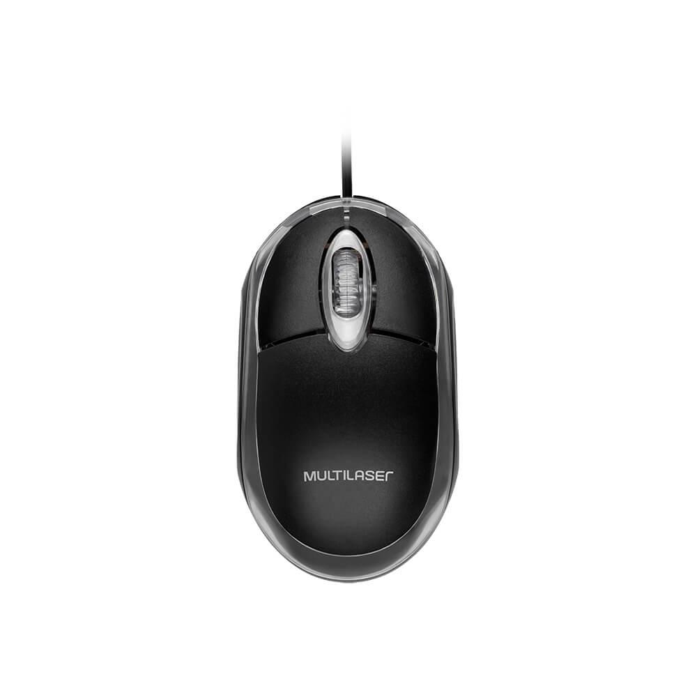 Mouse 3 botões 800 DPI óptico USB MINI preto Multilaser MO179 unid.