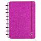 Caderno Inteligente Médio capa dura universitário 60 folhas CIMD3052 Glitter Pink Ambras
