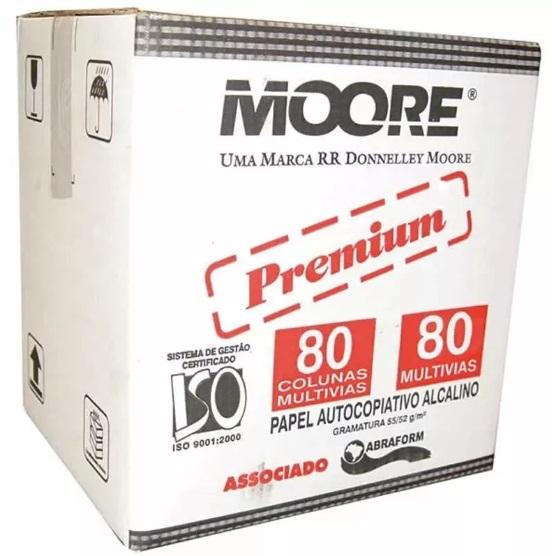 Formulário contínuo 80 colunas 3 vias branco 1018-9 Slip Copy Moore caixa 1000 unid.