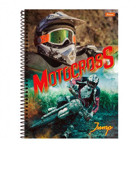 Caderno capa dura universitário 96 folhas Jump Foroni unid.