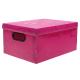Caixa organizadora média rosa pink Dello 2171.Q unid.