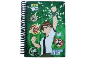 Caderno Álbum Sticker Ben 10 com 40 folhas Grafons 011202 unid.
