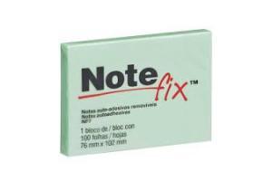 Bloco Note fix  nf7 76mm x 102mm 100 folhas verde 3m  unid.