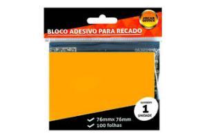 Bloco anotações 76 x 76 100 folhas Jocar Office 9118 laranja Leonora unid.
