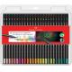 Lápis de cor GDE SuperSoft Faber 120750 com 50 unid.