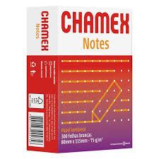 Papel lembrete 80mm x 115mm com 300 folhas notes Chamex unid.