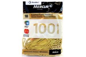 ELASTICO 18 SUPER AMARELO MERCUR PCT 100 UND