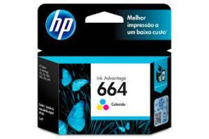 CABECA DE IMPRESSAO 664 F6V28AB 2ML COLOR HP UND
