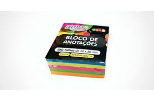 BLOCO ANOTACOES 50 X 50 250 FLS FLS NEON EI014 CORES KEEP UN
