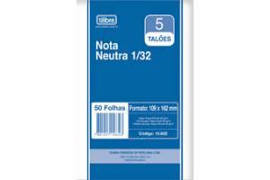 BLOCO NOTA NEUTRA 1/32 50 FLS 25 X 2 NNPC MARSE UND