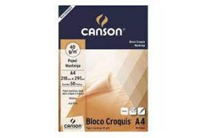 BLOCO CROQUIS A-4 41GR MANTEIGA 66667046 CANSON BLC 50 FLS