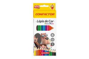 LAPIS DE COR C/ 12 CORES NEO PEN C/ APONTADOR E LAPIS HB N2 COMPACTOR UND