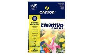 BLOCO CRIATIVO 297 X 420 A-3 120GRS C/ 32 FLS COLORIDO CANSON UND