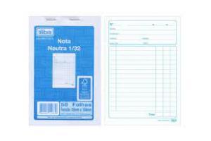 BLOCO NOTA NEUTRA 1/32 50 FLS 11234-5 PAPELBRAS