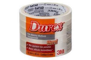 DUREX 12 X 10 TRANSP SCOTCH C/ DISPENSADOR 3M BLISTER C/ 02 UND