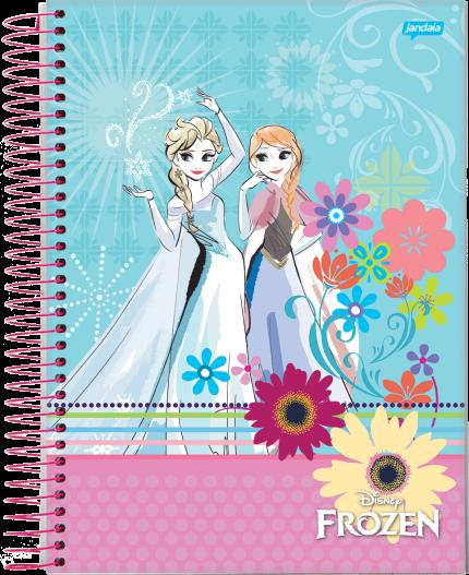 Caderno capa dura universitário 96 folhas Frozen 61819 Jandaia unid.