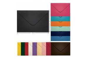 Envelope para convite 16 x 22/23 N cores sortidas unid.
