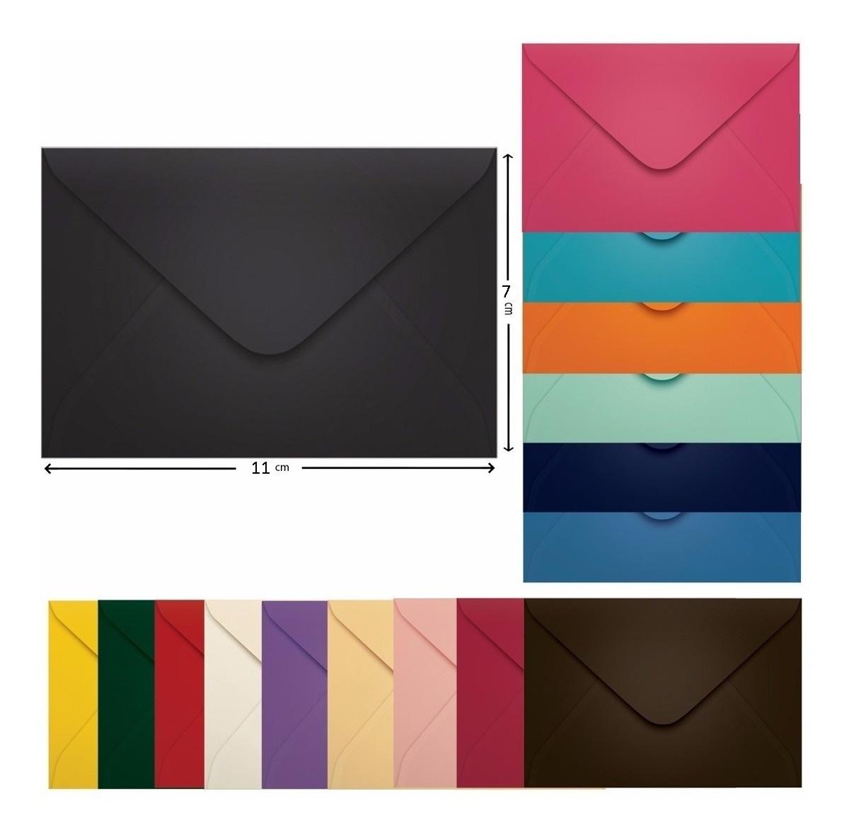 Envelope para convite 7 x 11 Colorido unid.