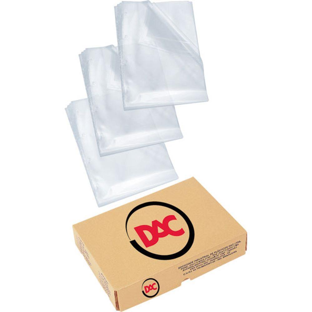 Plástico para pasta catálogo 4 furos 222 x 300 A4 médio 5078 DAC unid