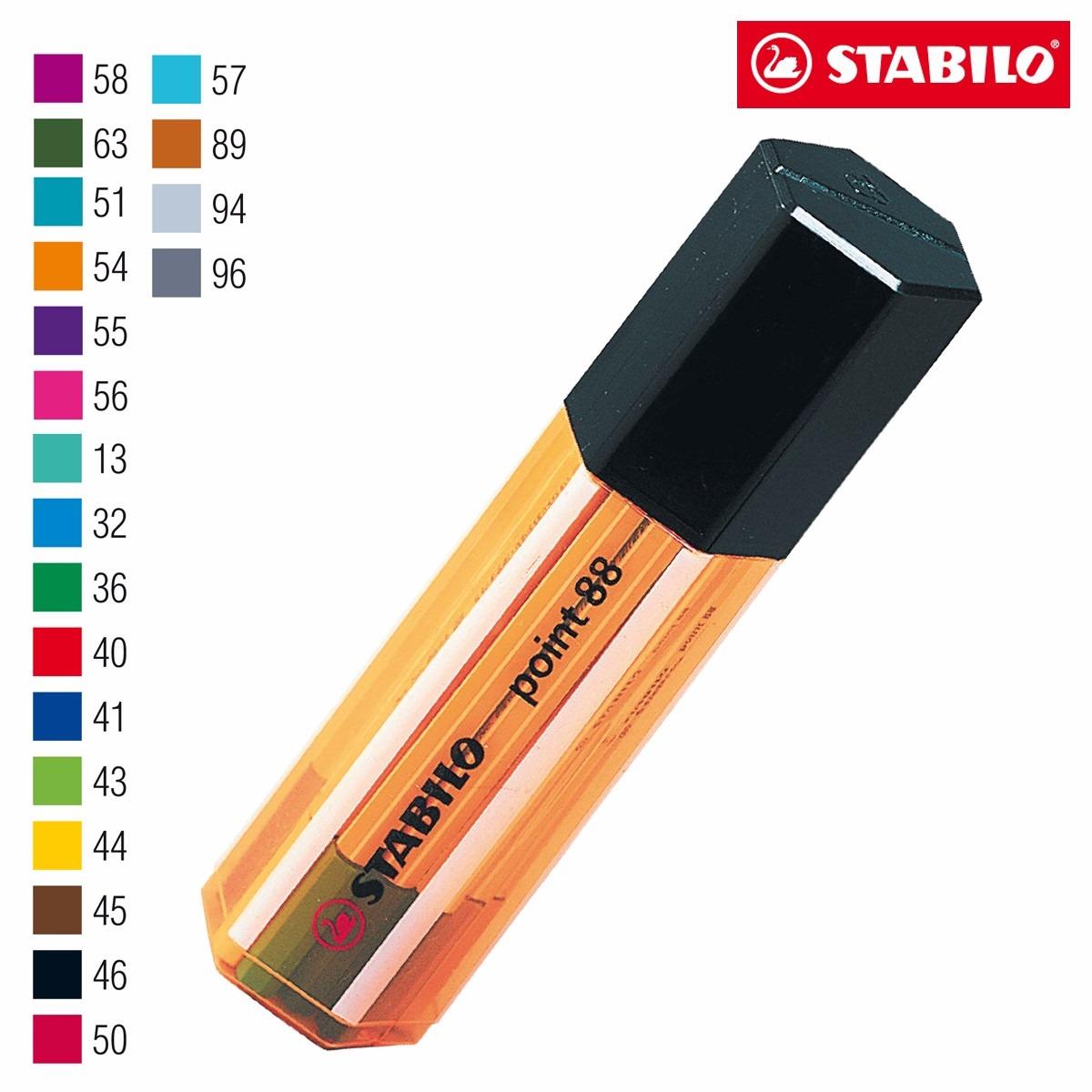 Caneta Point Cores Stabilo tubo com 20 cores 8820-1  unid.