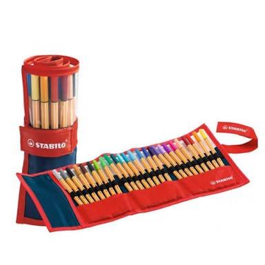 Caneta Point Roller Stabilo Set estojo com 25 unidades cores 8825-021 unid.