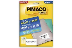 ETIQUETA INKJET E LASER 25,4 MM X 66,7 MM 6180 C/30 ETIQ FLS PIMACO PCT 100 FLS