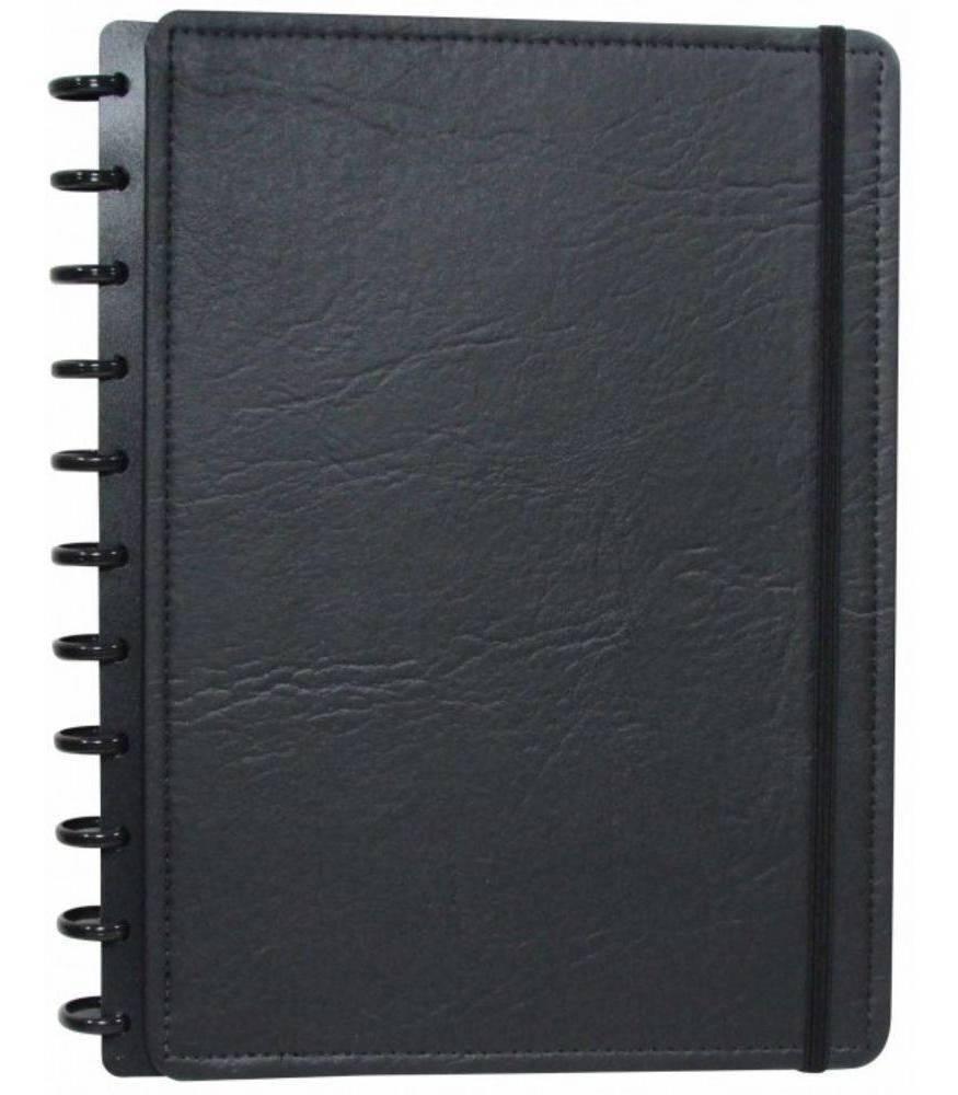 Caderno Inteligente Grande capa dura universitário 60 folhas Ecológico Preto Ambras