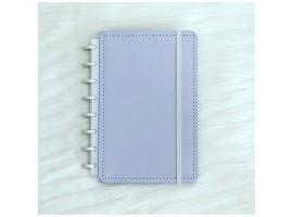 Caderno Inteligente A5 capa dura universitário 60 folhas Lilás pastel Ambras