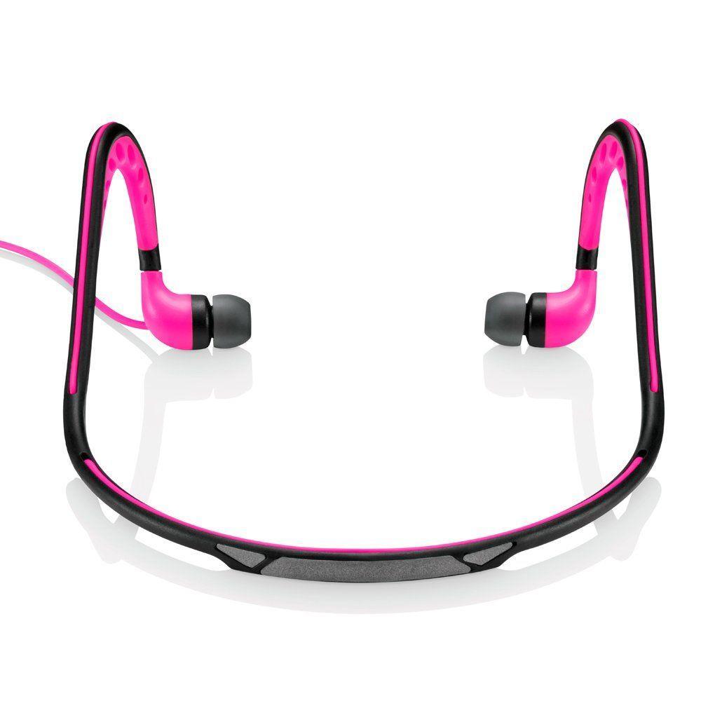 Fone de ouvido EarPhone Sport arco Pulse PH201 rosa Multilaser