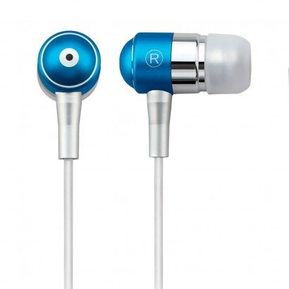 Fone de ouvido Auricular com microfone azul Multilaser PH060 unid.