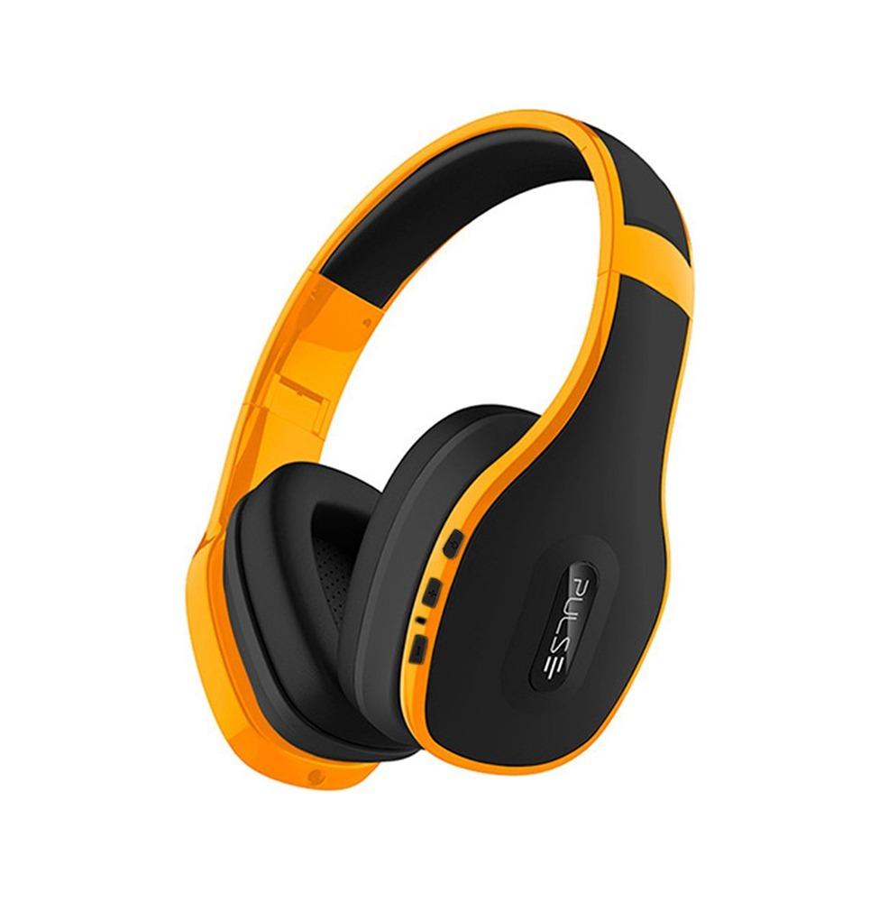Fone de ouvido HeadPhone Bluetooth Pulse amarelo Multilaser PH151 unid.