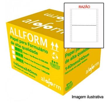 Formulário contínuo razão 80 colunas 2 vias 1/2 pag 403 All Form caixa 2000 unid.