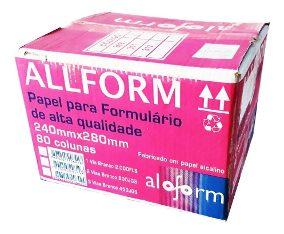 Formulário contínuo 80 colunas 3 vias 1/2 pag. 404 All Form caixa 1200 unid.