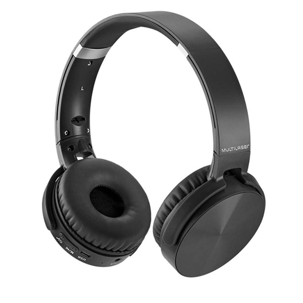 Fone de ouvido Headphone Premium Bluetooth preto Multilaser PH264 unid.