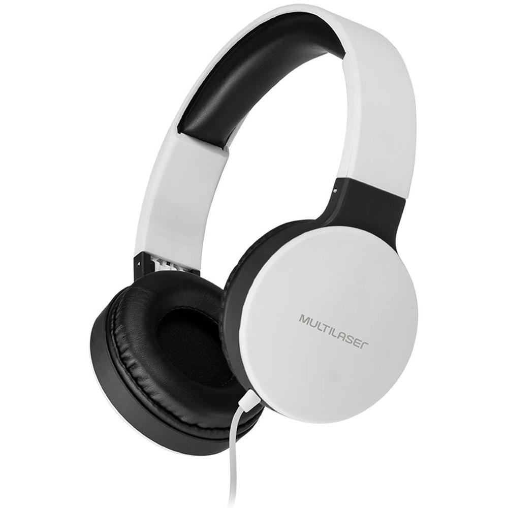 Fone de ouvido Headphone New Fun Wired branco Multilaser PH269 unid.