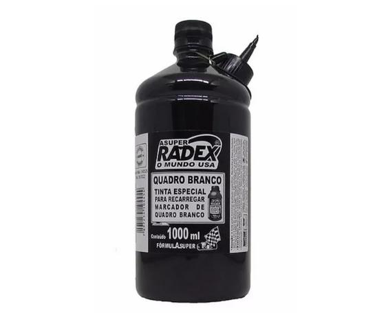 Tinta para marcador de quadro branco 1,0LT Super 4454 Preta Radex unid.