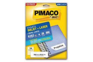 ETIQUETA INKJET E LASER 33,9 MM X 101,6 MM 6282 C/14 ETIQ FLS PIMACO PCT 25 FLS