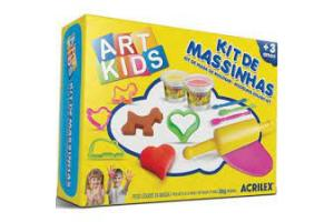 IT DE MASSINHAS 3 ART KIDS 300 G 40003 ACRILEX UND