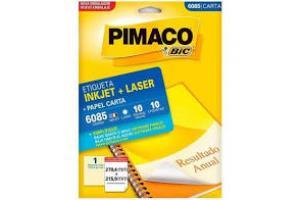 ETIQUETA INKJET E LASER 33,9 MM X 101,6 MM 6182 C/14 ETIQ FLS PIMACO PCT 100 FLS