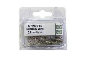 ALFINETE DE SEGURANCA N 00 ACC BLISTER C/ 25 UND