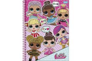 Caderno capa dura universitário 96 folhas LOL 6218 Foroni unid.