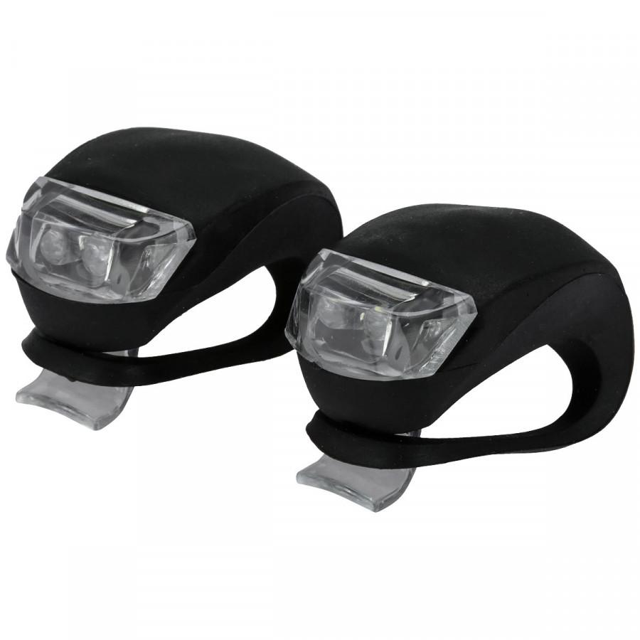 Kit Farol Silicone 2 LEDs dianteiro + traseiro BI049 Atrio unid.