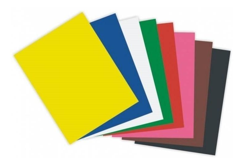 Papel cartolina 50 x 66 150 grs cores sortidas unid.