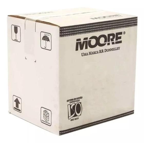 Formulário contínuo 132 colunas 1 via branco 1011-1 Moore caixa com 3000 unid.