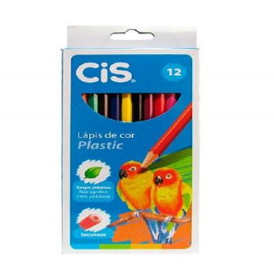 Lápis de cor 12 cores Plastic CIS unid.