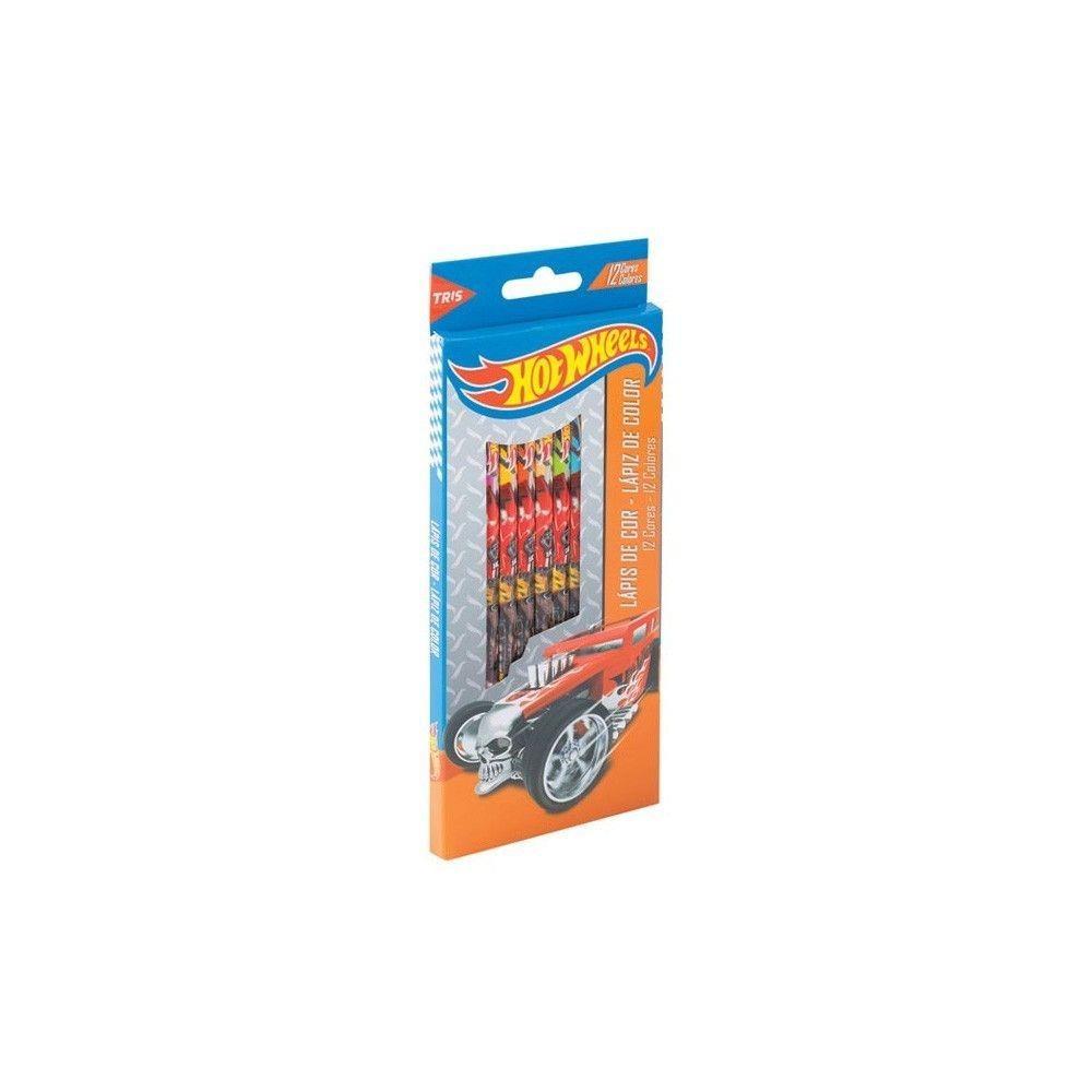 Lápis de cor GDE com 12 cores Hotwheels 643915 Tris Summit
